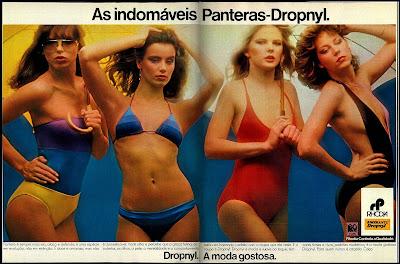 propaganda tecidos Dropnyl - Rhodia - 1979;  moda anos 70; propaganda anos 70; história da década de 70; reclames anos 70; brazil in the 70s; Oswaldo Hernandez
