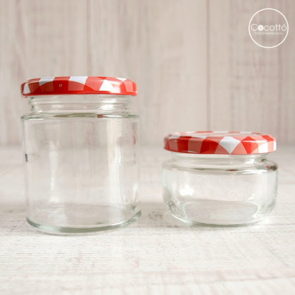 Decorar tarros de cristal para mermeladas aprender - Tarros de cristal con tapa ...