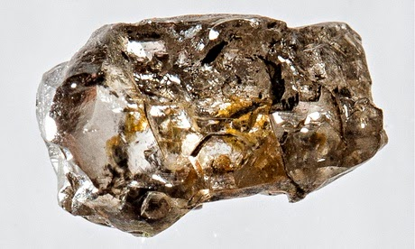 Rough diamond hints at vast quantities of water inside Earth