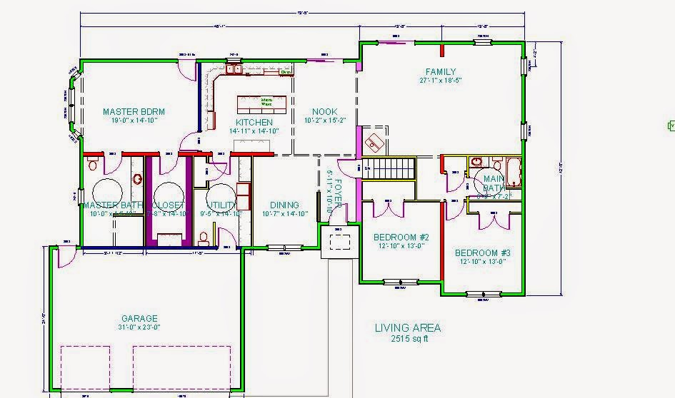 3 bedroom wheelchair accessible house plan work in for Accessible home design