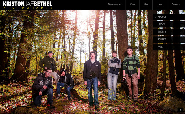 "My website, using Photoshelter's new ""Marquee"" layout for Beam"