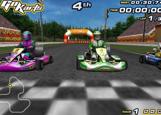 Karting Yarışları Oyunu