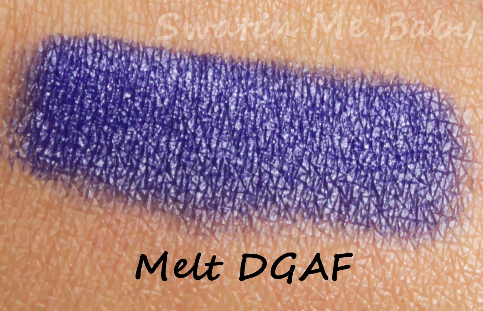 melt dgaf swatch dark skin