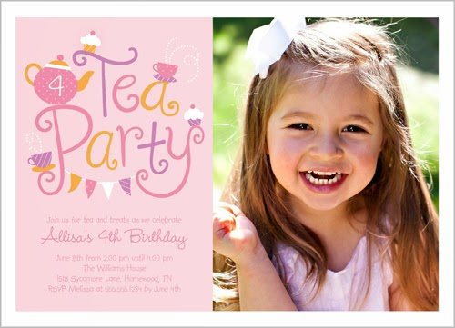 shutterfly tea time invite card