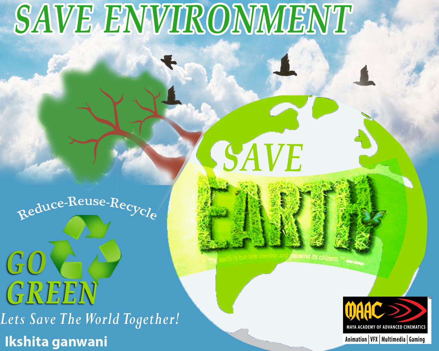 save environment poster