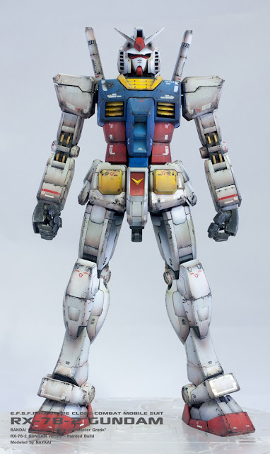 MG RX-78-2 Gundam ver.3.0 painted build style