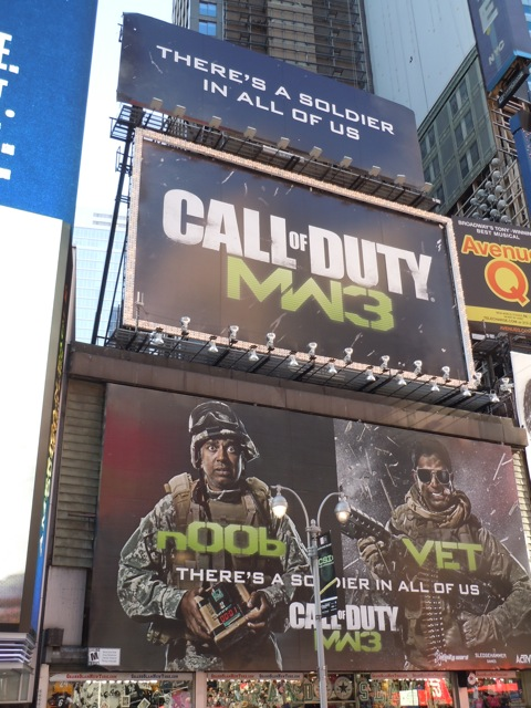 Call of Duty WM3 billboards NYC