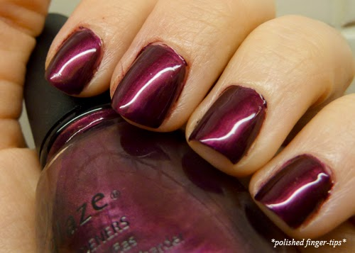 China Glaze Don't Make Me Wine - Artificial Light