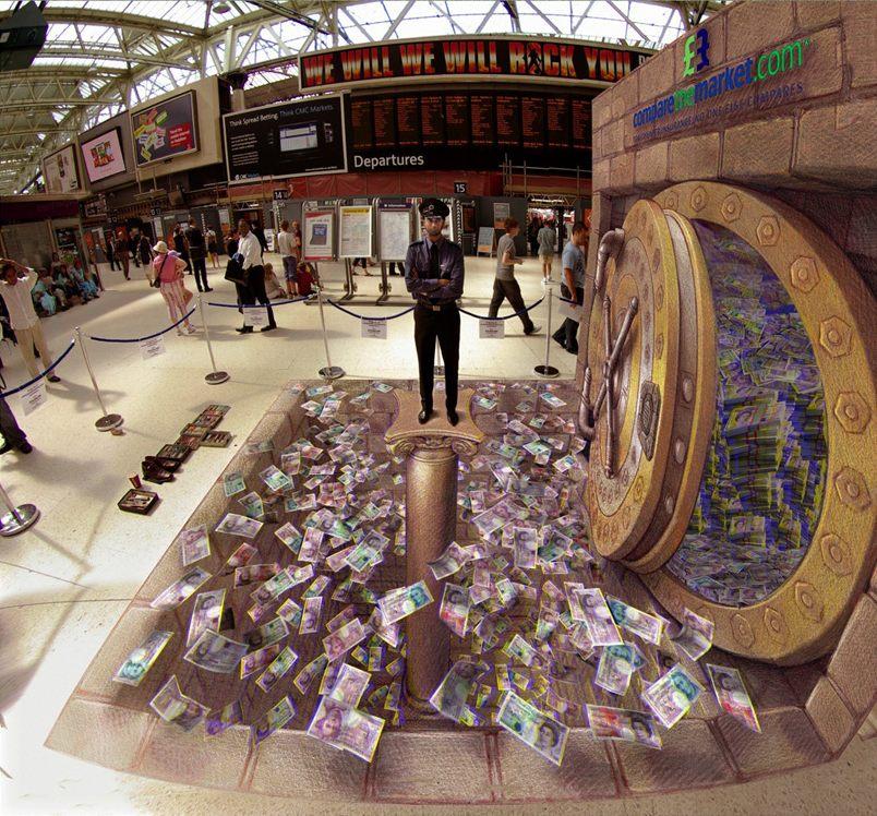 10-3D-the-Moneypit-Kurt-Wenner-3D-Street-Pavement-Art-Painting-www-designstack-co