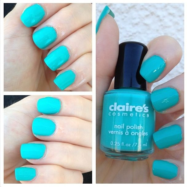 Cat Eyes & Skinny Jeans: NOTD: Claire's Bright Turquoise