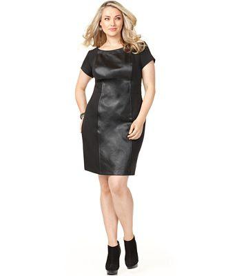 vestido de couro Macy's