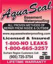 Aquaseal Basement Foundation Concrete Crack Repair Specialists Oshawa 1-800-NO-LEAKS