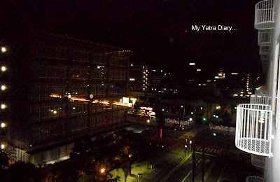 The view from the balcony of New Miyako hotel in Kyoto - Japan