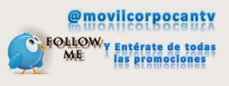 Siguenos en Twitter @movilcorpocantv