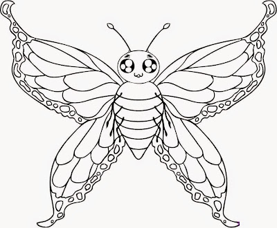 Coloring Page Butterfly Drawings