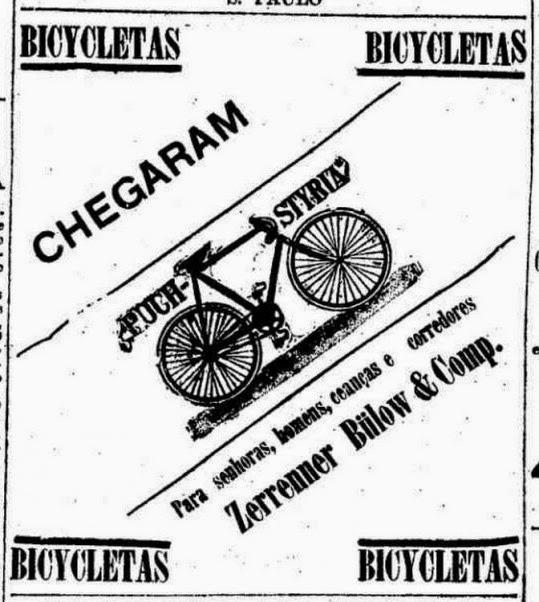 Anúncio de chegadas de bicicletas em loja brasileira: produtos importados.