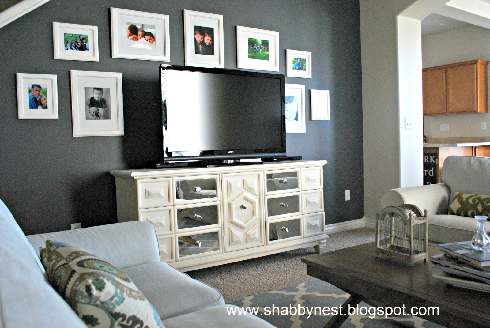 The shabby nest kitchen update ideas for Living room accent wall ideas