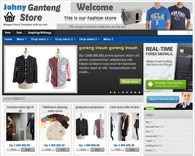 Template toko online blogspot gratis