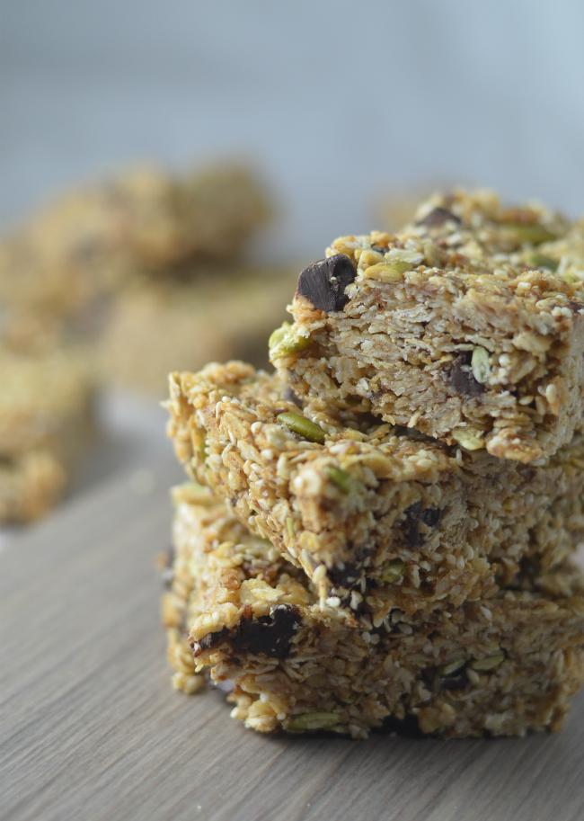 Vegan Granola Bars with Sesame and Coconut