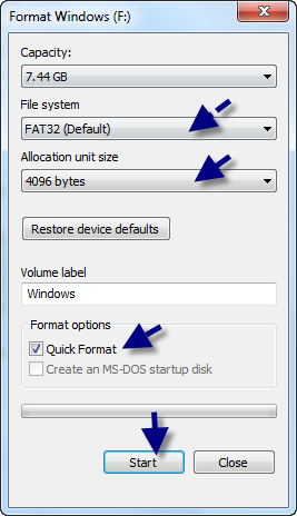 usb write protected format software