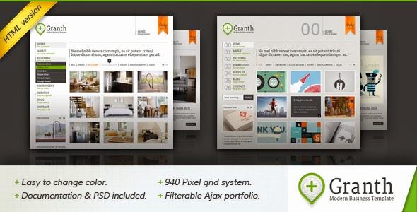 ThemeForest Aralık 2013 Ücretsiz Kurumsal/Kişisel Portfolio HTML Şablonu