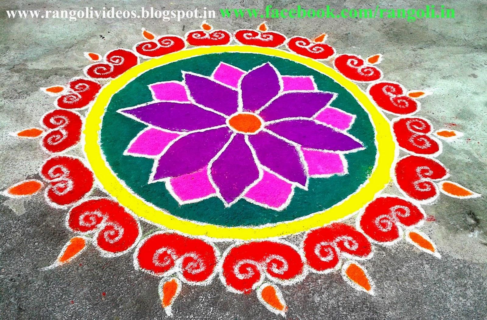 Punjab trip beautiful rangoli designs for this diwali 2014 for Home rangoli designs