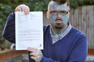 Meet Britain's Most Tattooed Man Who Has Been Refused A Passport Because Of Unusual Name