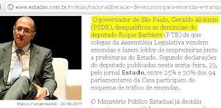 Geraldo Alckmin desqualifica dencuncias de Roque Barbieri