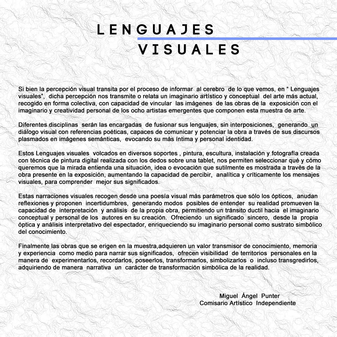 TEXTO . LENGUAJES VISUALES
