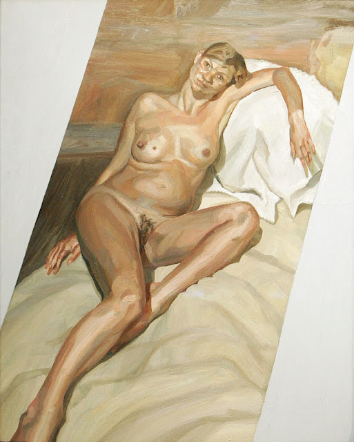 Retrato de Kate Moss, por Lucian Freud