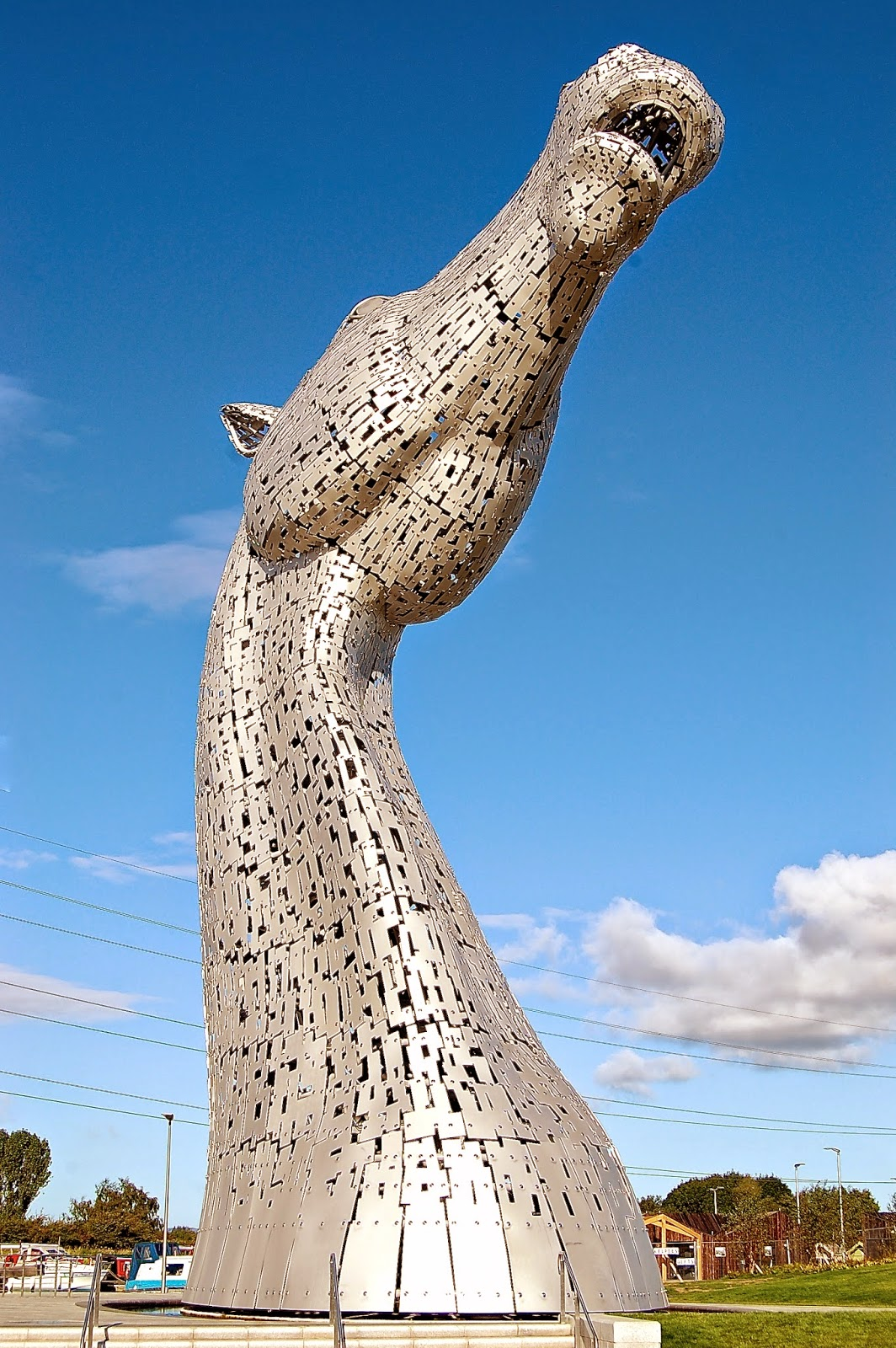 Kelpie with head raised, Falkirk, Scotland