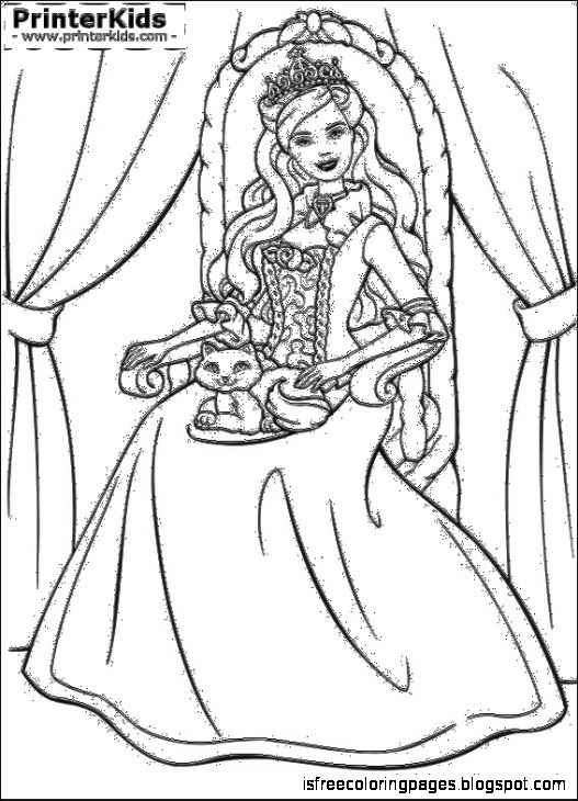 View Original Size Barbie As The Princess And Pauper Coloring Pages Preview