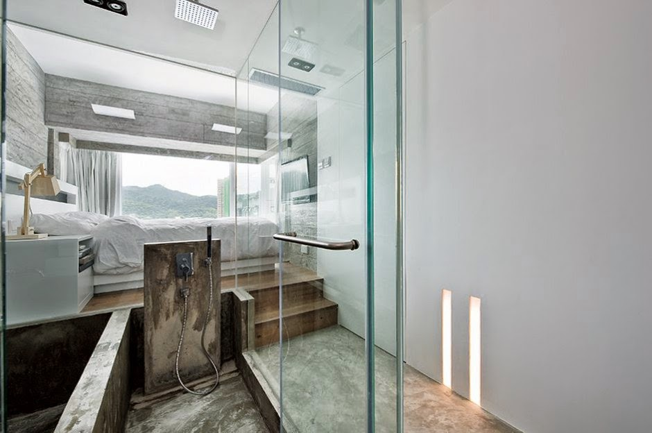 Interior de una casa moderna en gris - Decoraciones de casas modernas ...