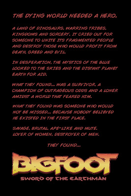 Bigfoot Sword of the Earthman barbarian Comic book preview synopsis teaser