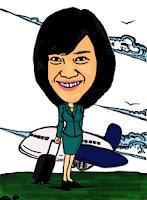 Stewardess Caricature