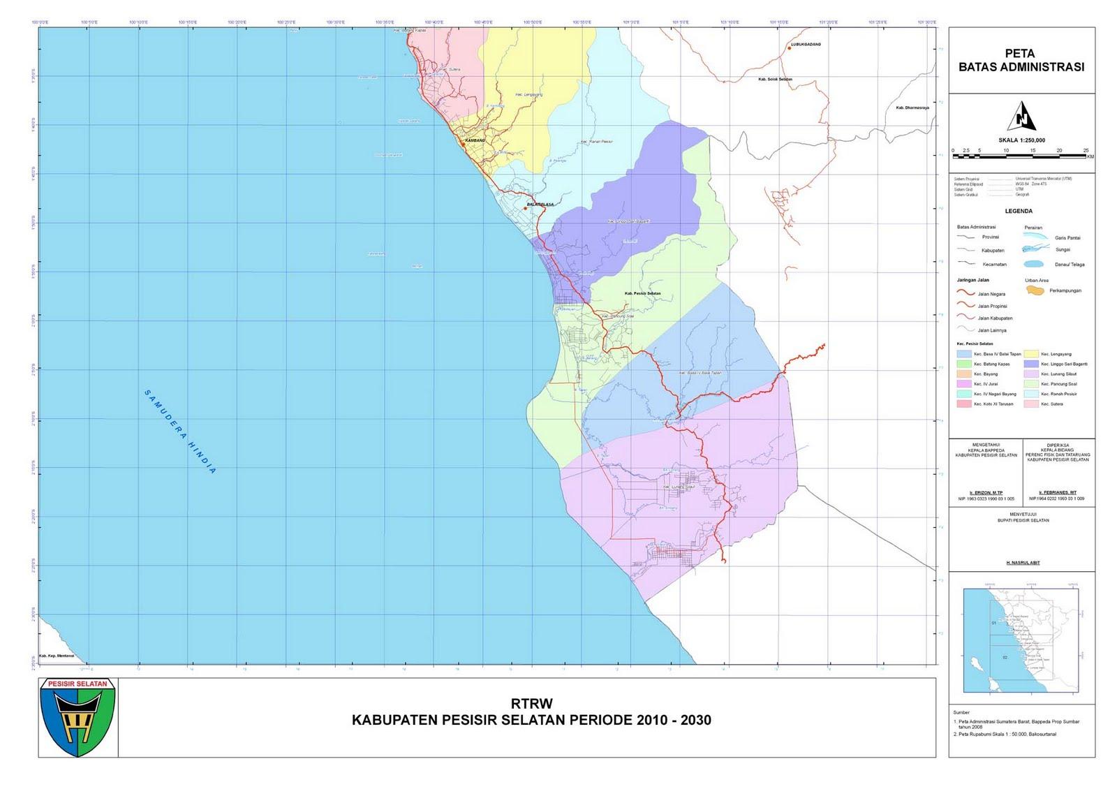 Peta Kota: Peta Kabupaten Pesisir Selatan