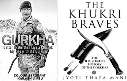 The two books GURKHA and THE KHUKRI BRAVES