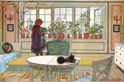 Carl-Larssons-Daughter-Painting