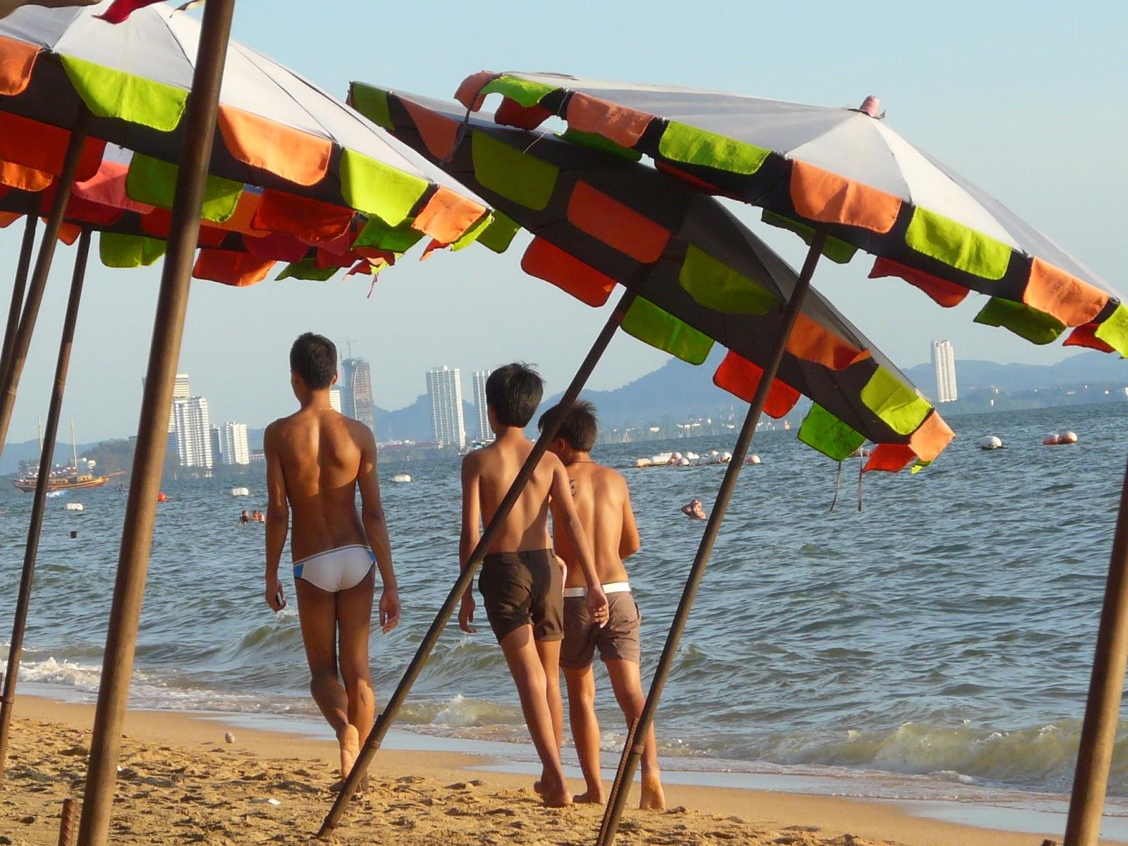 Boys at Jomtien Beach