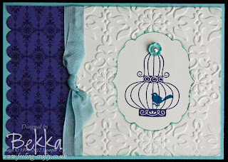 Card from Aviary Card Making Class with Bekka www.feeling-crafty.co.uk