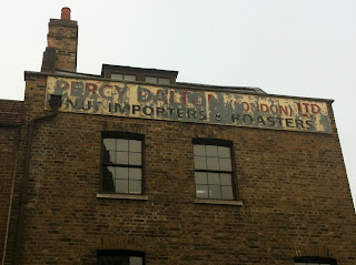 Ghost sign in Spitalfields, London E1