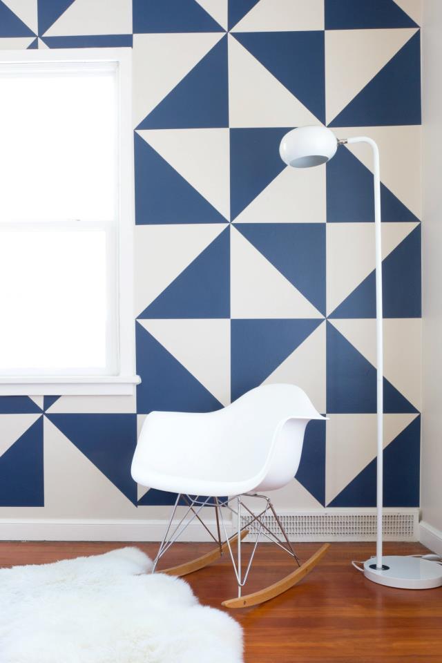 Tudo pra casa ideias criativas paredes charmosas - Formas de pintar paredes interiores ...