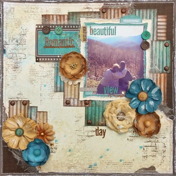 Amy's Pretty Papers: Romantic Day Layout for ***BoBunny***