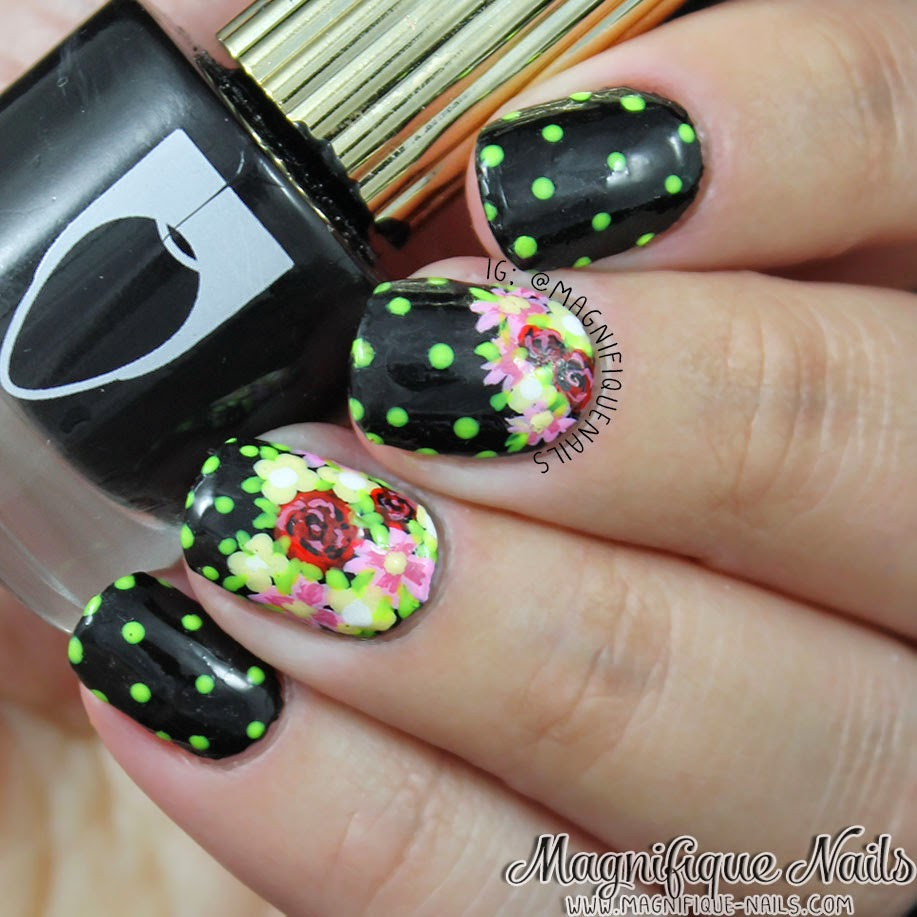 Magically Polished Nail Art Blog Blooming Flowers