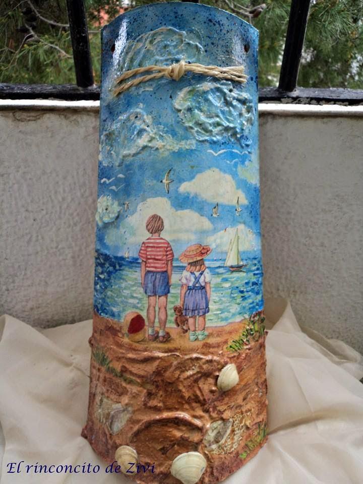 El rinconcito de zivi tejas decoradas con decoupage - Motivos infantiles para decorar ...