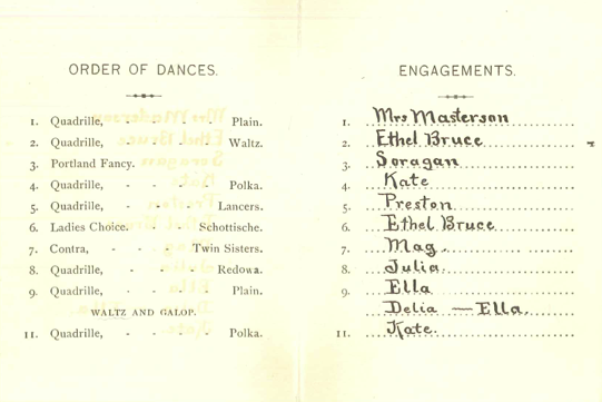 Rauner Special Collections Library Anatomy Of A Dance Card