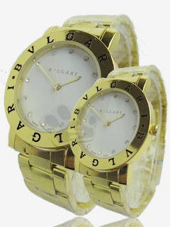 Jam Tangan Couple - Bvlgari Class Couple Rantai (Gold White)