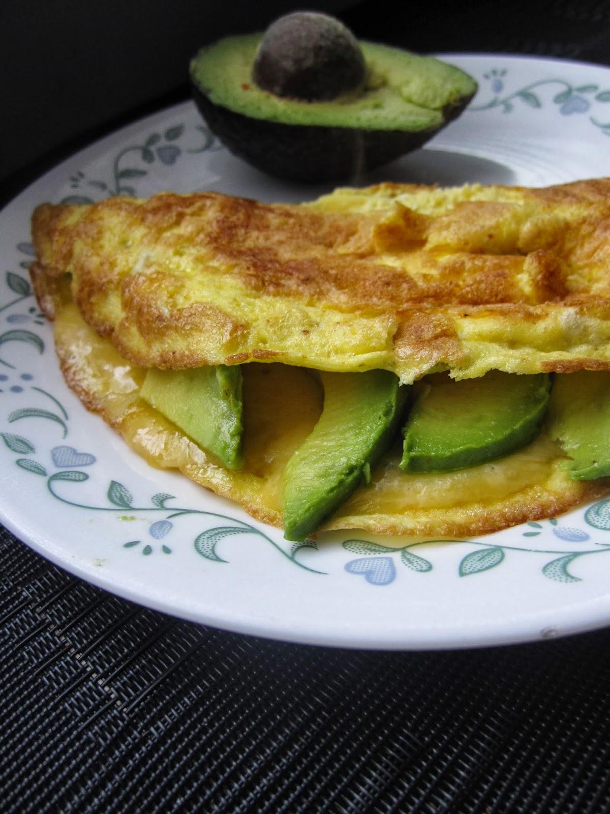 Avocado and Havarti Omelette