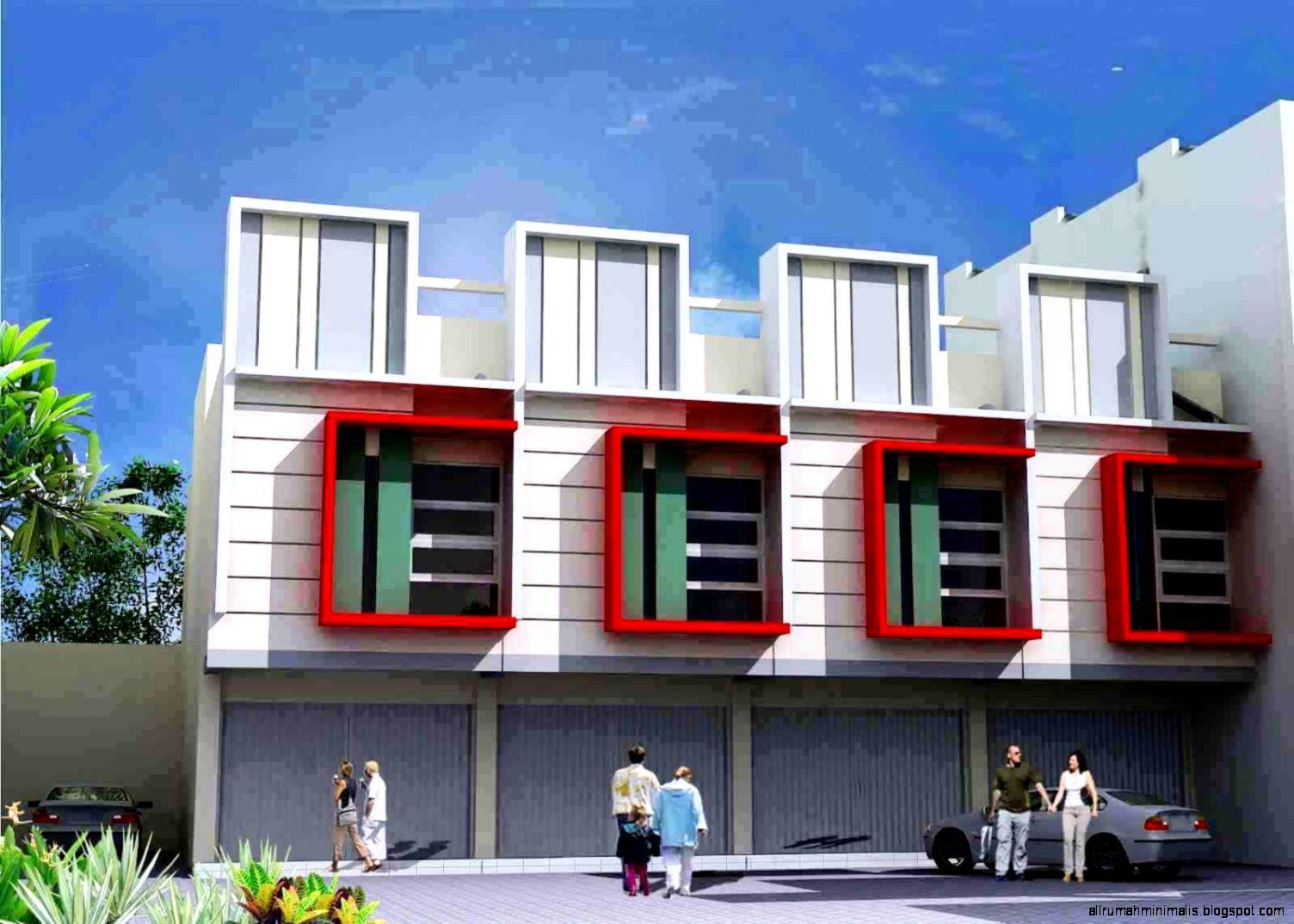 Desain Ruko Minimalis 2 Lantai Dan 1 Modern
