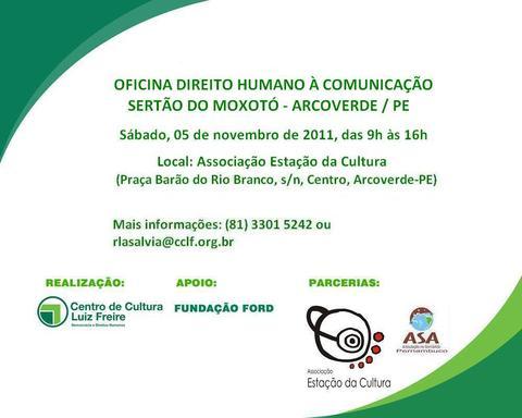 CENTRO LUIZ FREIRE REALIZA OFICINA NO MOXOTÓ